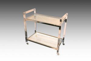 clear bar cart